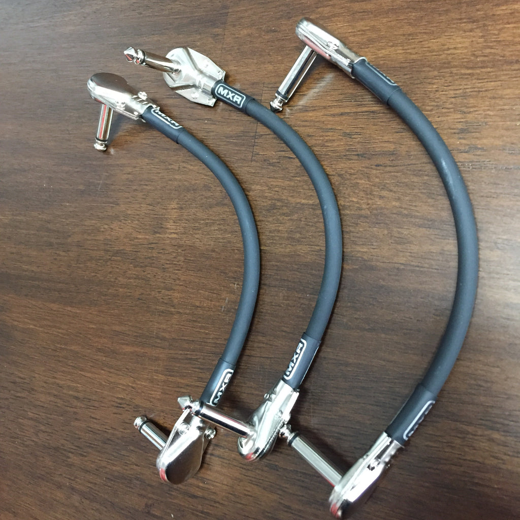 "3 MXR 6"" Right Angle Pedal Cable Flat Ends"