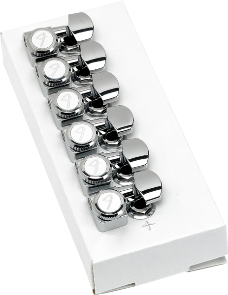 Fender Locking Stratocaster®/Telecaster® Tuning Machines (Polished Chrome) (6)