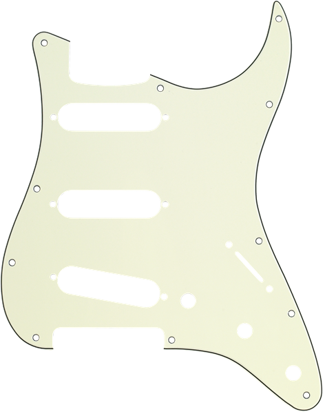 Fender Pickguard, Stratocaster® S/S/S, 11-Hole Mount, Mint Green MG/B/MG 3-Ply