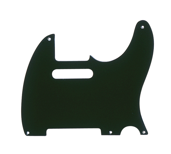 Fender Pickguard, Telecaster®, 5-Hole Mount, Black, 1-Ply