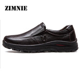 ZIMNIE Men's Genuine Leather Shoes Business Dress Moccasins Flats Slip On New Men's Casual Shoes Dress Mens Business Shoes 38-48 - Men's Shoe Mall