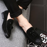 2017 High Quality Leather Men Flats slip on Oxfords/Loafers with tassel - Men's Shoe Mall