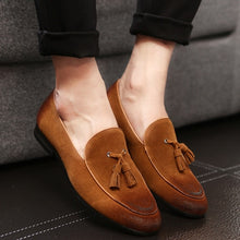 2017 High Quality Leather Men Flats slip on Oxfords/Loafers with tassel