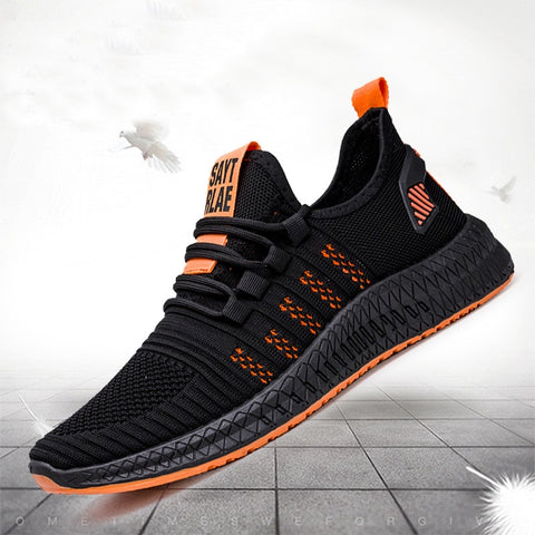 2019 New Mesh Men Sneakers Casual Shoes Lac-up Men Shoes Lightweight Comfortable Breathable Walking Sneakers Zapatillas Hombre - Men's Shoe Mall