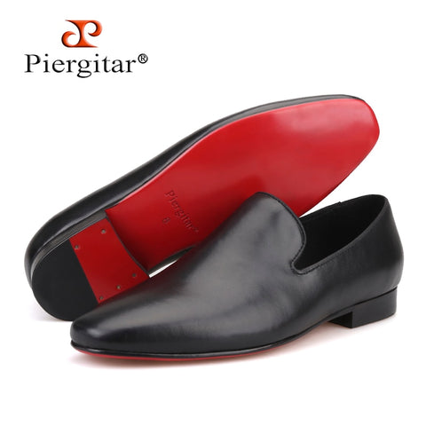 2019 new arrival Handmade men Genuine Leather shoes British style men Wedding dress shoes Prom and Banquet male's loafers flats