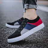 Spring men's canvas shoes men's fashion sports shoes men's comfortable men's casual lace brand driving shoes large size: 39-47 - Men's Shoe Mall
