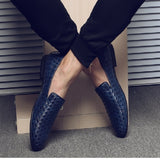 Driving Oxfords Men Shoes Braid Leather Casual Shoes Men Moccasins Loafers Italian Flats