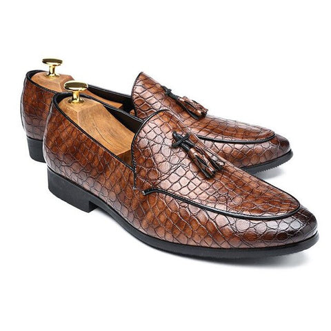 Plus size Men's fashion Crocodile classic Moccasins Mens Leather Casual snakeskin grain Loafers Outdoor Driving Flats Shoes