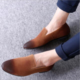 Movechain Men's Fashion Suede Loafers Mens Casual Outdoor Driving Moccasins Shoes Man Trendy Party Flats 4 Colors EU Sizes 38-48