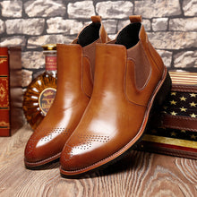 Mens Leather Formal Dress Business Oxford Brogue Wingtip Ankle Boots