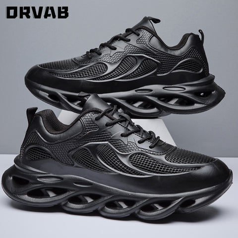 All Black Man Shoes Fashion Designer Shoes Men High Quality Breathable Men Sneakers Summer Trainers Male Winter Big Size 39-48