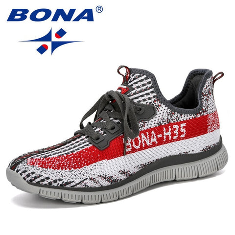 BONA 2019 New Summer Chaussure Homme Outdoor Men Running Shoes Mesh Sneakers Man Sport Shoes Walking Shoes Male Comfortable Shoe