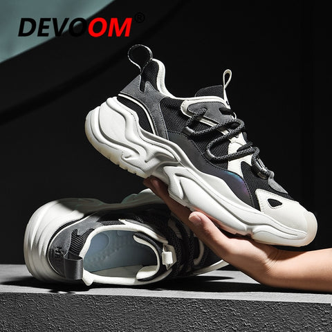2020 Sport Running Shoes Men Breathable Black Chunky Black Sneakers Men Athletic Gym Shoes Outdoor Trainers Man Shoes Triple s