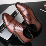2020 Fashion Man Formal Shoes High Quality Breathable PU Leather Personality Men Business Dress Loafers Oxford Wedding Shoes