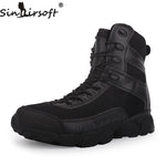 SINAIRSOFT Genuine Leather Outdoor Sport Army Men's Tactical Boots CP Camo Male Combat Winter Shoes Military Boots Hiking Shoes - Men's Shoe Mall