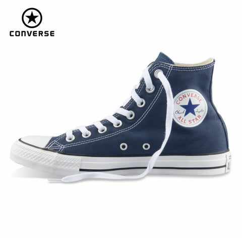 Original Converse all star shoes men women's sneakers canvas shoes all black high classic Skateboarding Shoes - Men's Shoe Mall