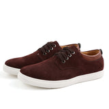 YWEEN Men's Casual Shoes Man Flock Leather Lace-up shoes Man Oxford Big Size Flats - Men's Shoe Mall