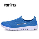 FONIRRA Men Casual Shoes 2017 New Summer Breathable Mesh Casual Shoes Size 34-46 Slip On Soft Men's Loafers Outdoors Shoes - Men's Shoe Mall