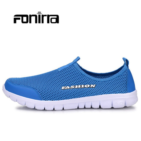 FONIRRA Men Casual Shoes 2017 New Summer Breathable Mesh Casual Shoes Size 34-46 Slip On Soft Men's Loafers Outdoors Shoes