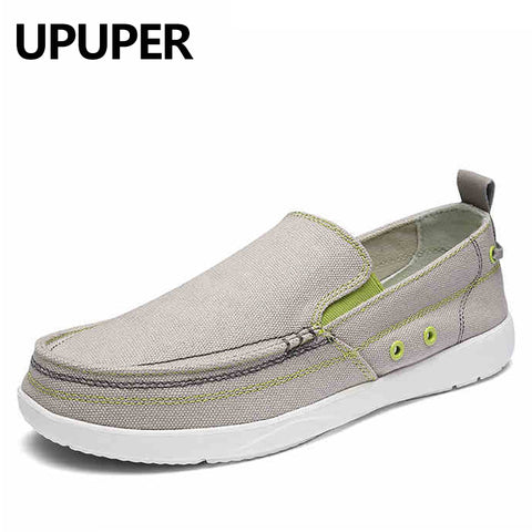 UPUPER Canvas Shoes Men, Ultralight Breathable Casual Men Shoes ,Spring Summer Comfortable Loafers Lazy Driving Flats Men Shoes - Men's Shoe Mall