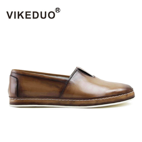 Vikeduo 2018 Hot Handmade Original Designer Fashion Luxury Leisure Comfortable Slip-on Top Genuine Leather Mens Casual Shoes - Men's Shoe Mall
