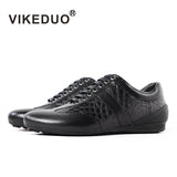 Vikeduo Time-limited 2018 Crocodile Handmade Designer Men's Casual Shoes 100% Alligator Fashion Genuine Leather Luxury Leisure - Men's Shoe Mall