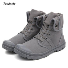 Autumn and winter 2018 new non-slip breathable middle canvas shoes Paladin men's outdoor casual shoes fashion hot wild boots