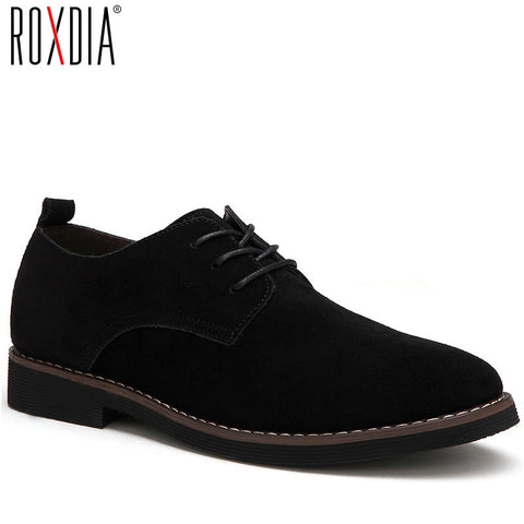 ROXDIA plus size 39-48 genuine leather men casual flats waterproof dress oxford man shoes lace up for work male loafers RXM098 - Men's Shoe Mall