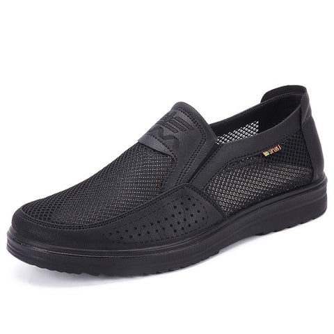 Men'S Casual Shoes Men Summer Style Mesh Flats For Men Loafer Creepers Casual High-End Shoes Very Comfortable fgb6 - Men's Shoe Mall