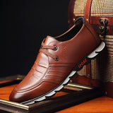 Mens Dress Shoes Zapatos De Hombre Spring Leisure Fashion Lace-Up Leather Shoes Man Oxfords Brown Black Loafers Men Formal Shoes