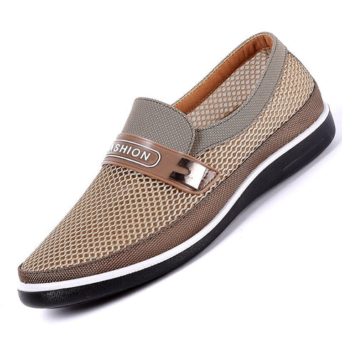 2019 New Summer Mesh Shoes Men Slip-On Flat Sapatos Hollow Out Comfortable Father Shoes Man Casual Moccasins Basic Espadrille - Men's Shoe Mall