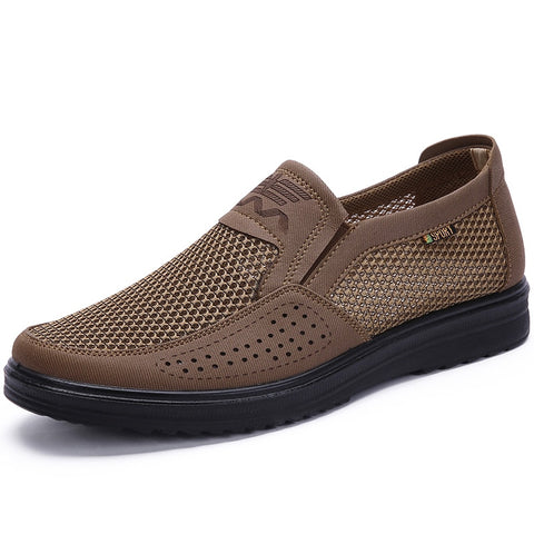 38-48 Men'S Casual Shoes, Men Summer Style Mesh Flats For Men Loafer Creepers Casual High-End Shoes Very Comfortable Dad Shoes - Men's Shoe Mall