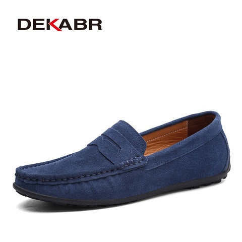 DEKABR Brand Spring Summer Hot Sell Moccasins Men Loafers High Quality Genuine Leather Shoes Men Flats Lightweight Driving Shoes - Men's Shoe Mall