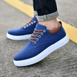 2019 Spring Men's Canvas Shoes Men Fashion Sneakers Men Comfortable Mens Casual Shoes Lace-Up Brand Driving Shoes Big Size:38-47 - Men's Shoe Mall