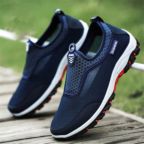 2018 Summer Comfortable mens Casual Shoes Slip-on Breathable Mesh Flats Trainers Sneakers Water Loafers Fashion Outdoor Shoes - Men's Shoe Mall