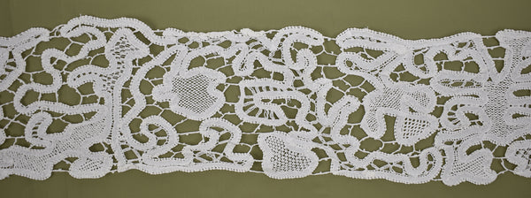 vintage antique handmade needle lace abstract