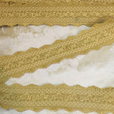 green gold antique vintage french passementerie trim upholstery ribbon picot