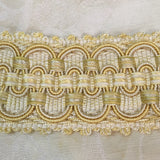 fancy french marie antoinette silk soutache trim gold cream wide picot gimp