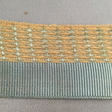antique french titanic edwardian ribbon light blue cream grosgrain