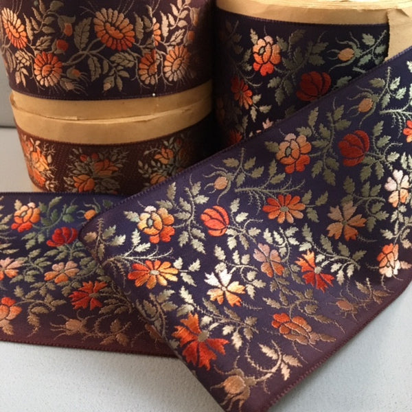 antique french jacquard ribbon
