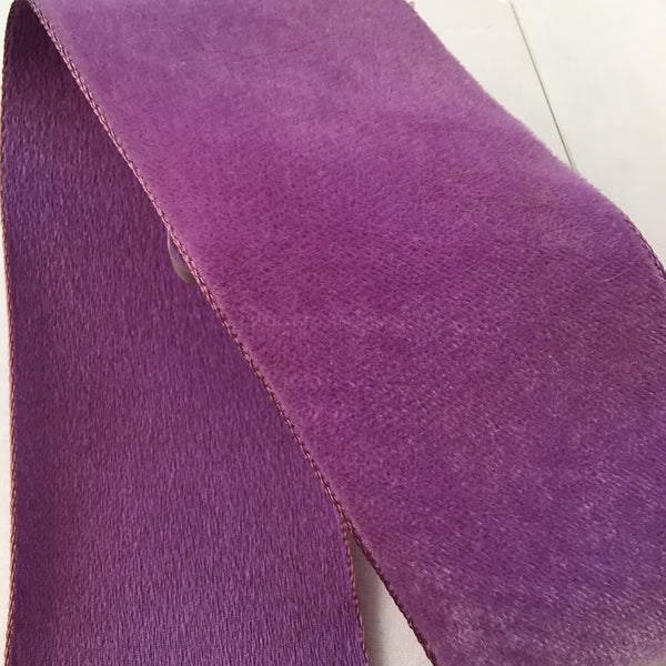 "Vintage Violet Purple 2"" Satin Backed Velvet Ribbon"