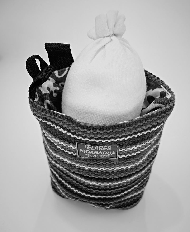 Climber's Chalk Bag - White/Black/Purple