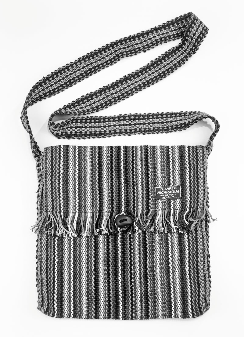 Fringe messenger bag - dark blue/black