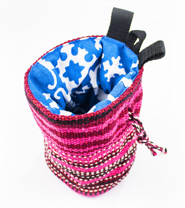 Climber's chalk bag - pink/red