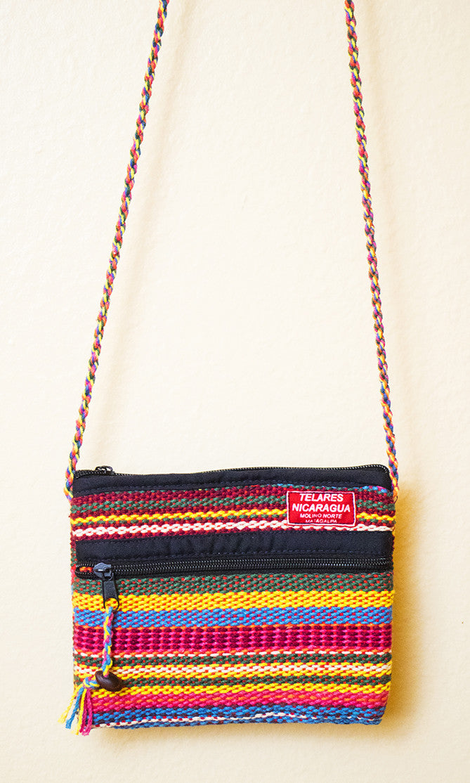 Small purse with slim strap - yellow/red/blue/green