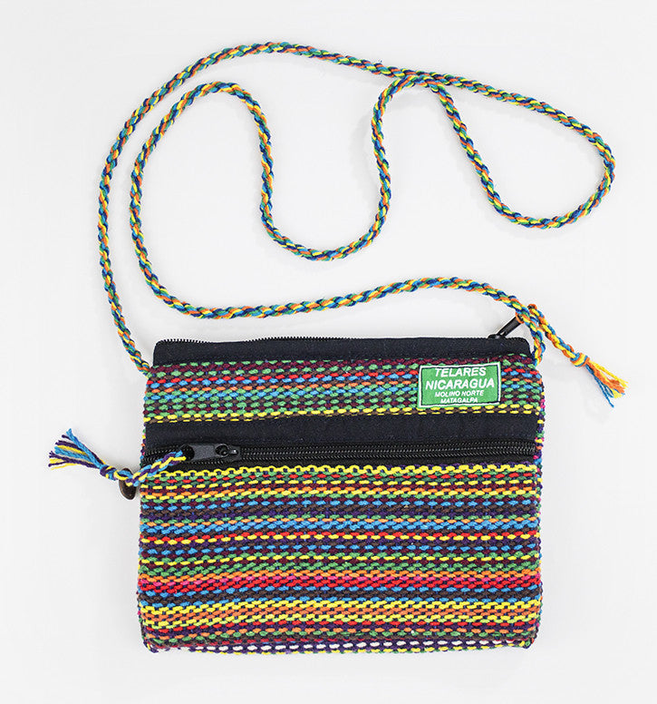 Small purse with slim shoulder strap - rainbow