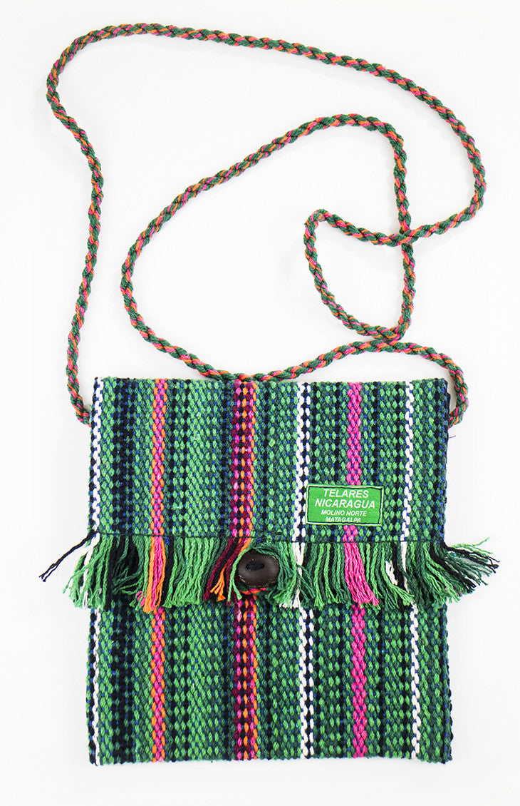 Fringe small purse -green/red/pink
