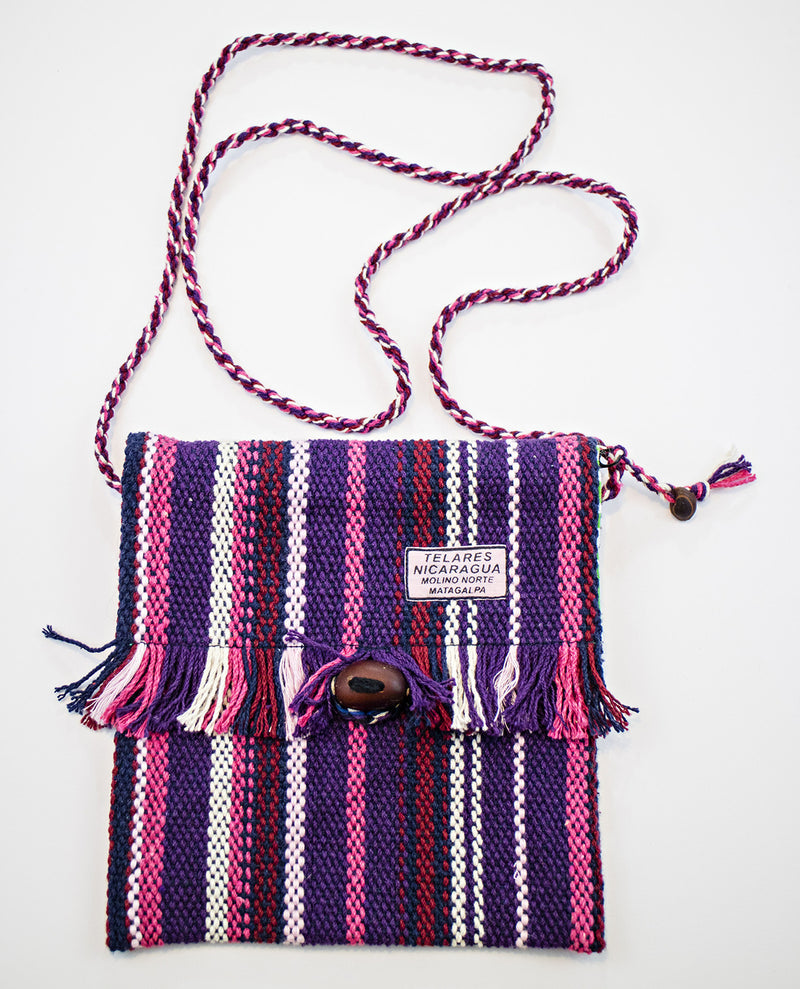 Fringe small purse - purple/pink/red