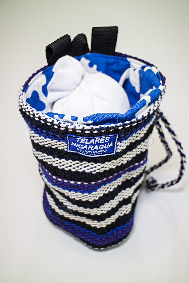 Climber's chalk bag - dark blue/black