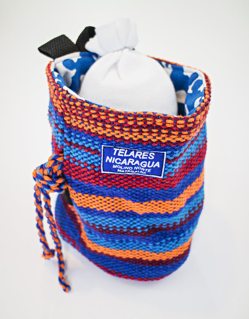 Climber's chalk bag - orange/light blue